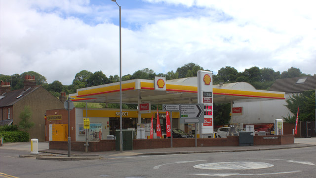 Fuel station at the bottom of Nashleigh Hill, Chesham
