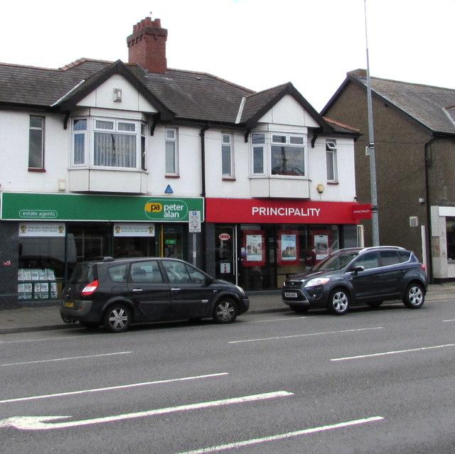 Peter Alan and Principality, Newport Road, Rumney, Cardiff