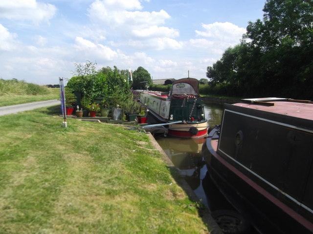 Narrow boat with a garden