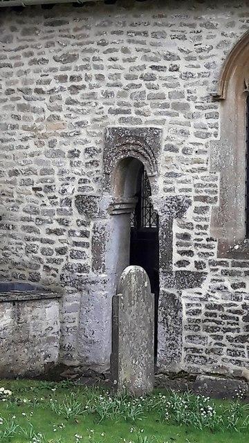Saxon doorway at All Saints' church, Somerford Keynes