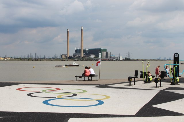 Olympic exercise area by River Thames