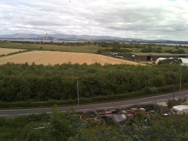 A904 road, east of Grangemouth