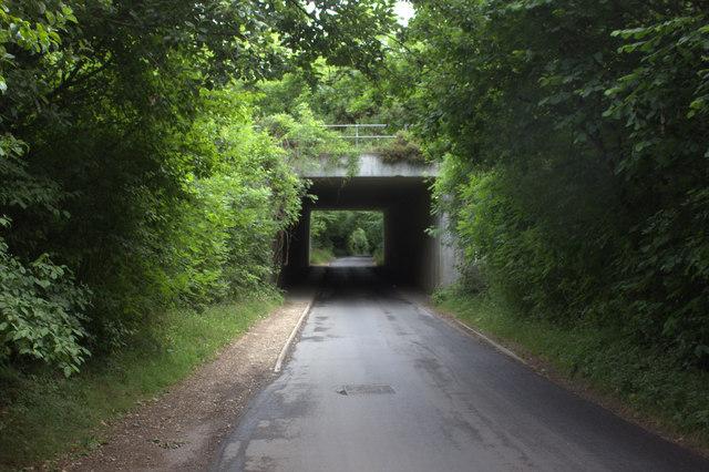 A41 bridge over Johns Lane looking northwards