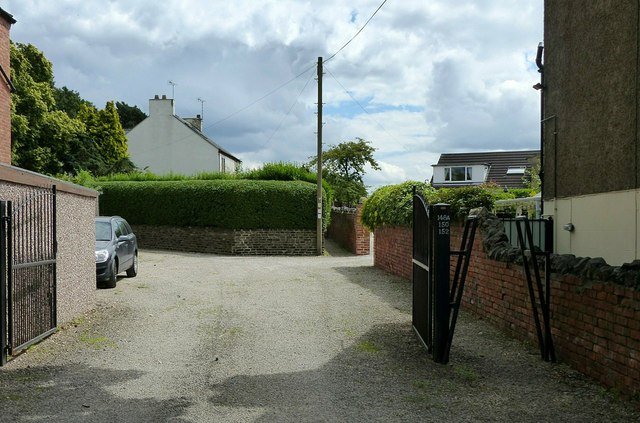 Private driveway with public footpath