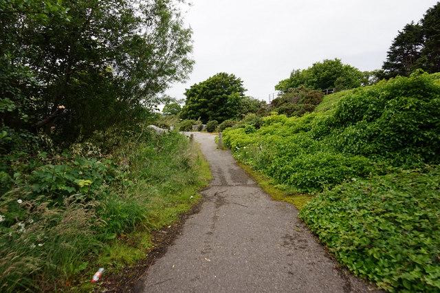 Former road near Rosskeen Bridge