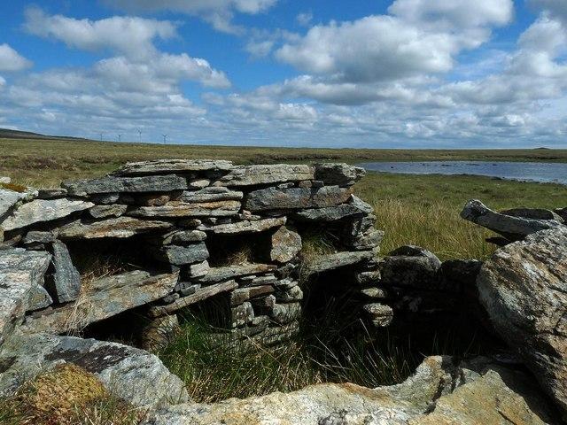 Shieling hut by Loch na Gainmhich, Isle of Lewis