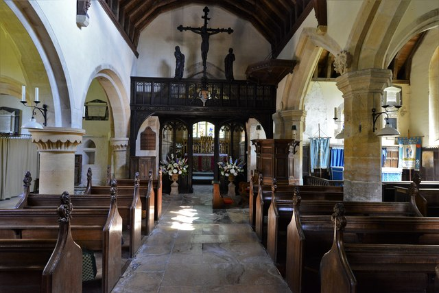 Stanton, St. Michael's Church: The nave