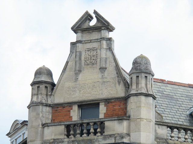 Former Barclays Bank, High Road / Broad Lane, N15 - date stone on corner gable