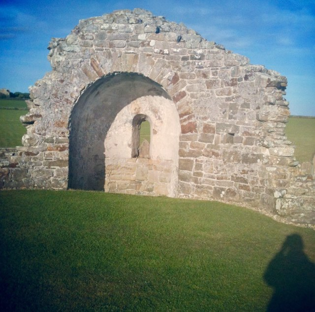 Remains of the Round Kirk in Orphir