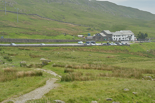 The Kirkstone Pass Inn from the north west