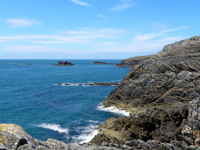Rocky coastline west of Rhoscolyn