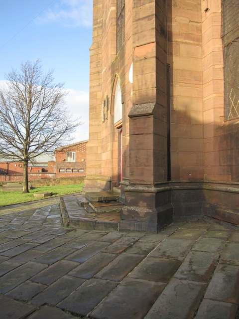 The base of St George's Church tower, Everton