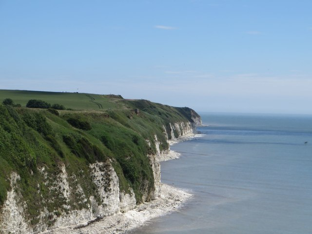 View along the cliffs from Dykes End