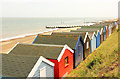 TM5176 : Southwold Beach Huts by Richard Croft