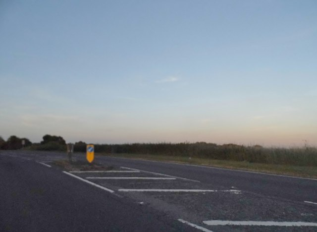 Sunset over the A3090, Standon
