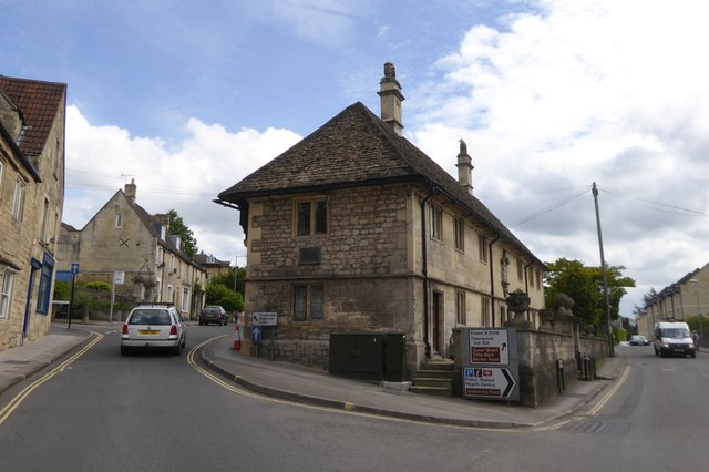 Stone building at junction of Frome Road and St Margaret's Street