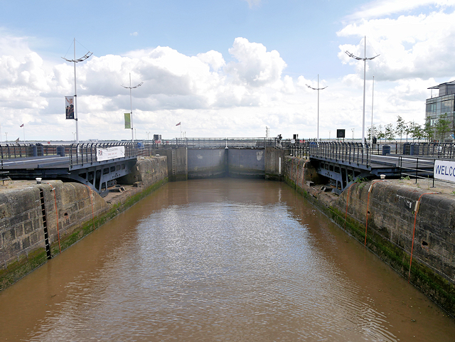 Lock at the Southern End of Humber Dock/Hull Marina
