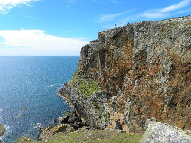 Cliffs at Porth Gwalch
