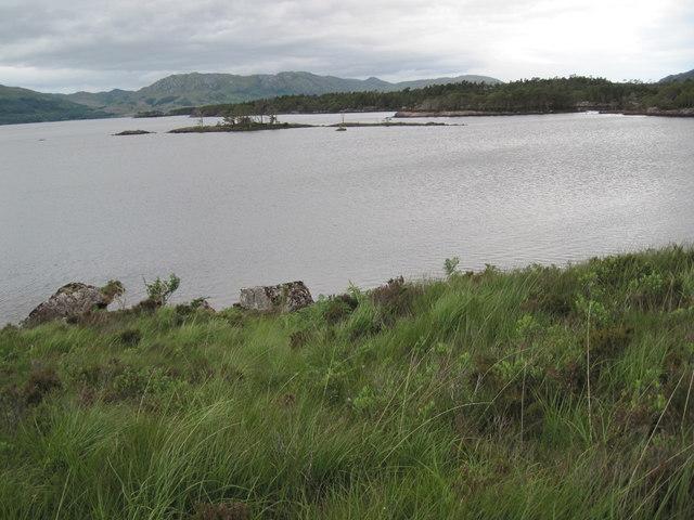 Small islands across Camas a' Chonnaidh