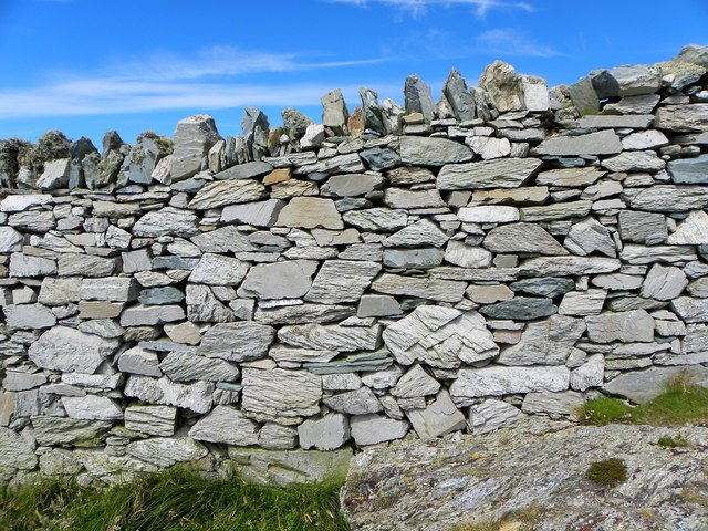 Drystone wall on the clifftop