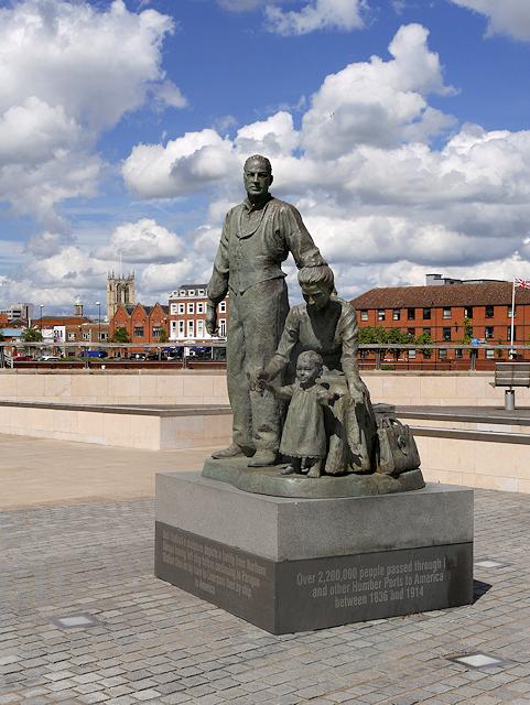 Migrants Statue, Humber Quay