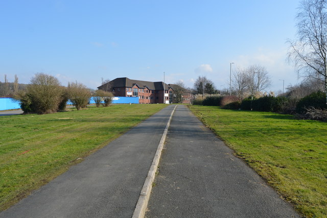 Footpath and cycle lane