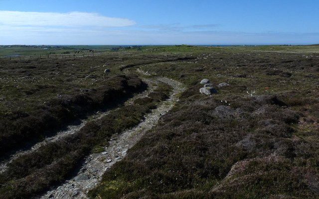 Moorland track to the south of Pairc Shiaboist, Isle of Lewis