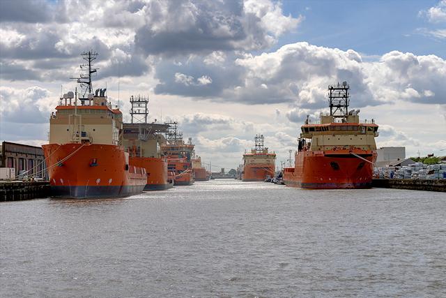 Supply Ships at Albert Dock