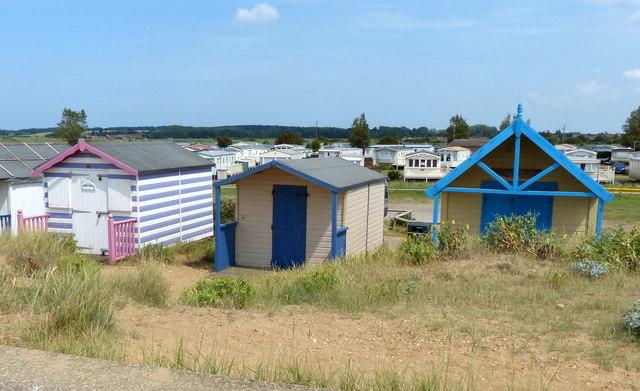 Beach huts at Heacham