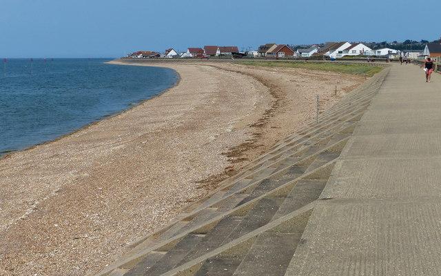 Beach and promenade at Heacham