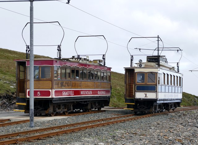 Car 5 on the Snaefell Mountain Railway