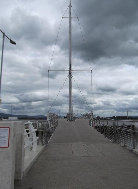 Pont y Ddraig Rhyl Dragon Bridge