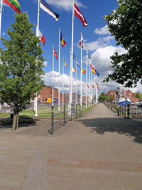 European Flags at Hull Marina