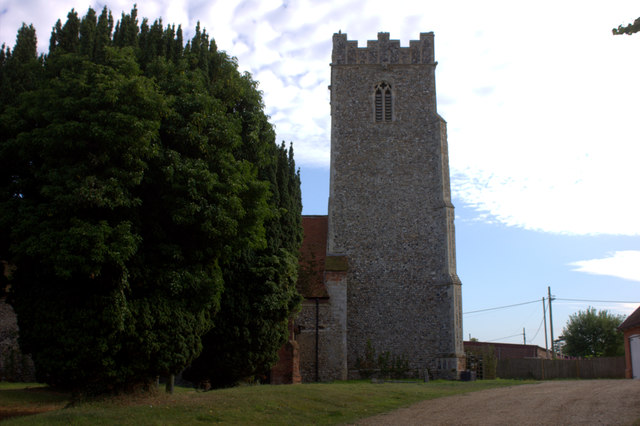 Stratford St Andrew church tower