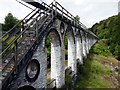 SC4385 : The rod viaduct of the Laxey Wheel by Graham Hogg