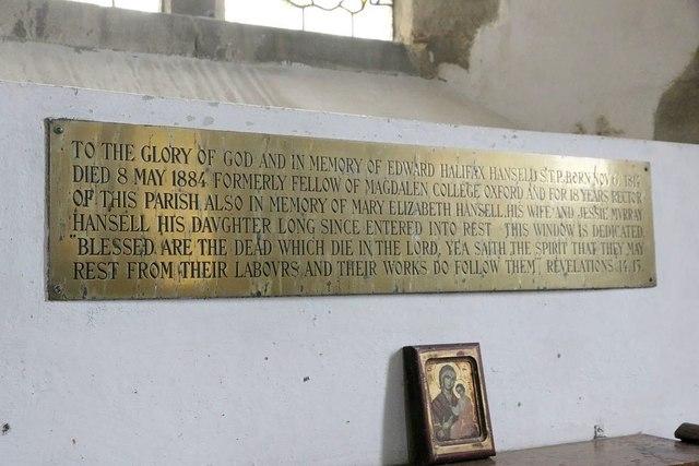 Hansell memorial