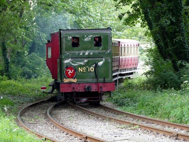 Locomotive no. 10 approaching Castletown station