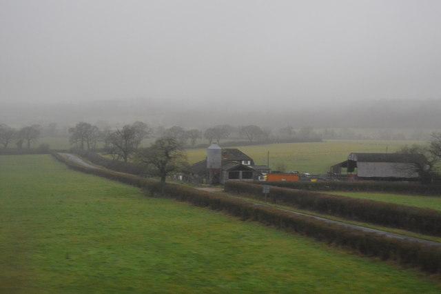Bridge Farm in heavy rain