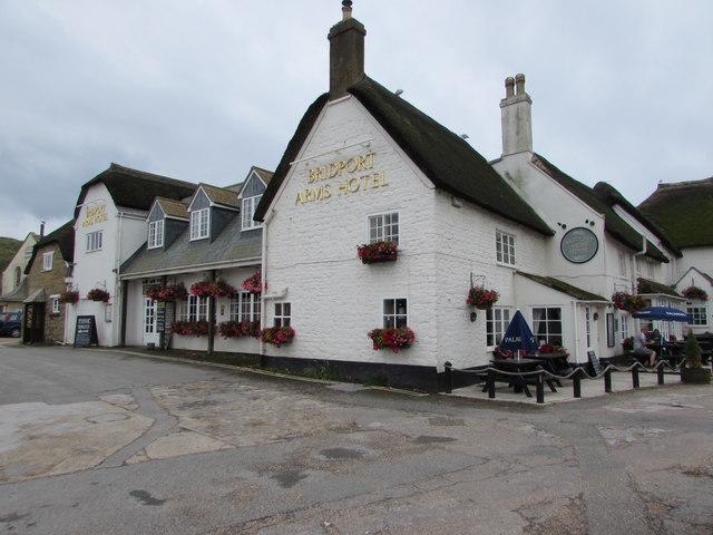 Grade II listed Bridport Arms Hotel, West Bay, Dorset