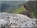 NG9257 : Spidean a' Choire Leith towards The Pinnacles by Chris Wimbush