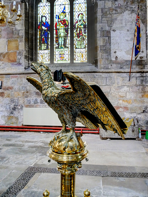 Howden Minster, Eagle Lectern and North Window