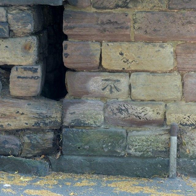 Bench mark, 4 Chesterfield Road, Belper