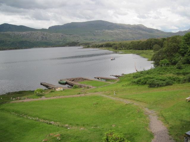 Loch Maree shore from the Loch Maree Hotel