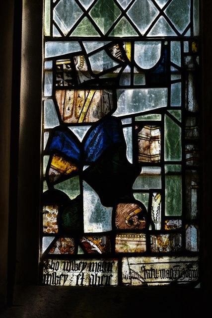 Stanton, St. Michael's Church: Medieval glass fragments