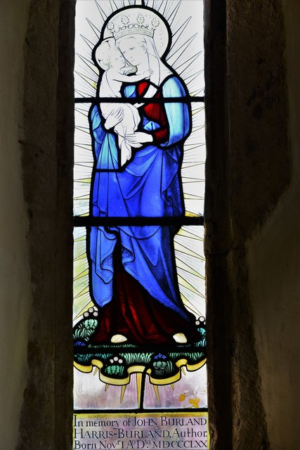 Stanton, St. Michael's Church: John Burland Harris-Burland memorial window