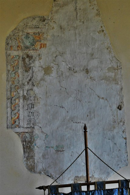 Stanton, St. Michael's Church: Fragment of wall painting