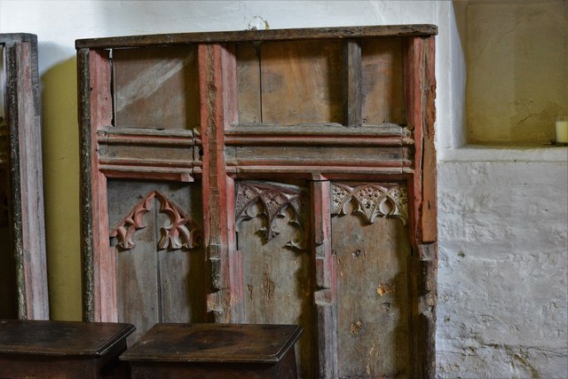 Stanton, St. Michael's Church: Remains of an old screen in the north transept