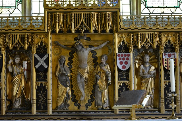 Stanton, St. Michael's Church: The 1915 Comper reredos