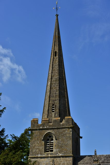 Stanton, St. Michael's Church: Tower and spire