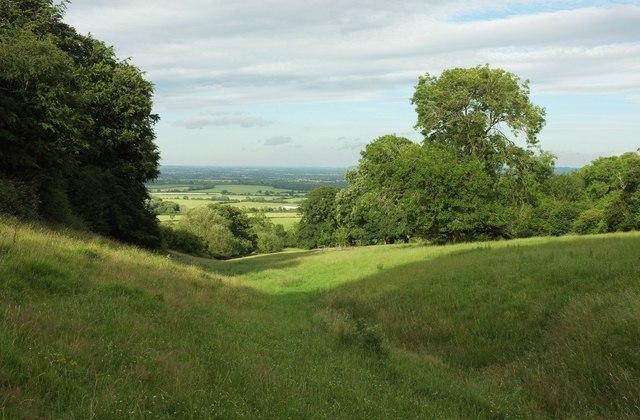 Valley below Castle Hill
